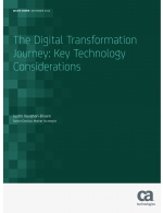 The digital transformation journey key technology considerations