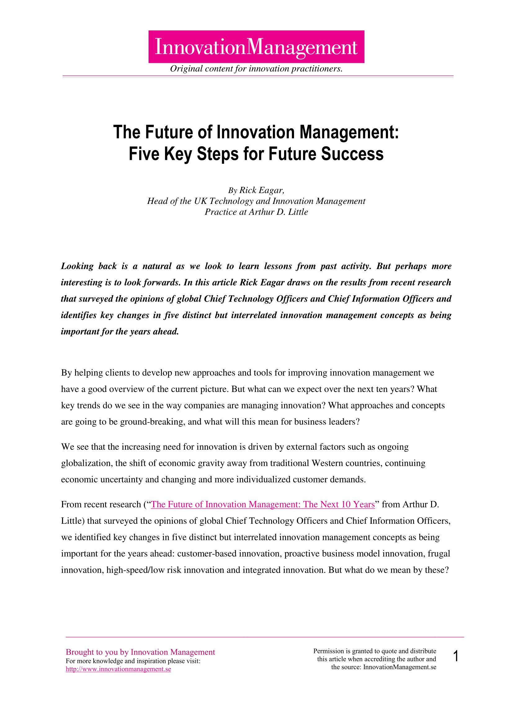 The Future of Innovation Management: Five Key Steps for Future Success_whitepaper