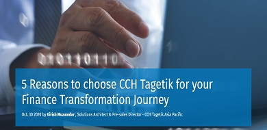 5 reasons to choose CCH Tagetik for your Finance Transformation Journey